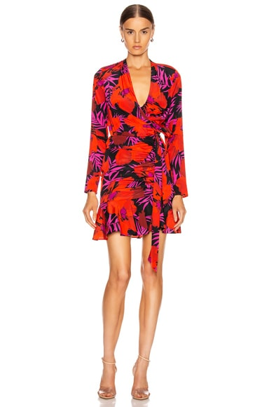 Veronica Beard Lorina Dress in Poppy Multi | FWRD