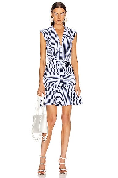 Bell Bottom Ruched Dress
