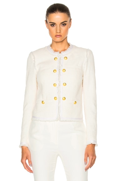 Betsy Lace Back Tweed Jacket