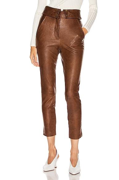 Minerva Leather Pant