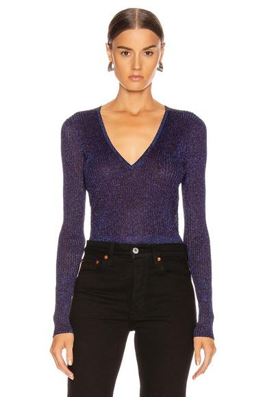 Esmeralda V Neck Pullover Top