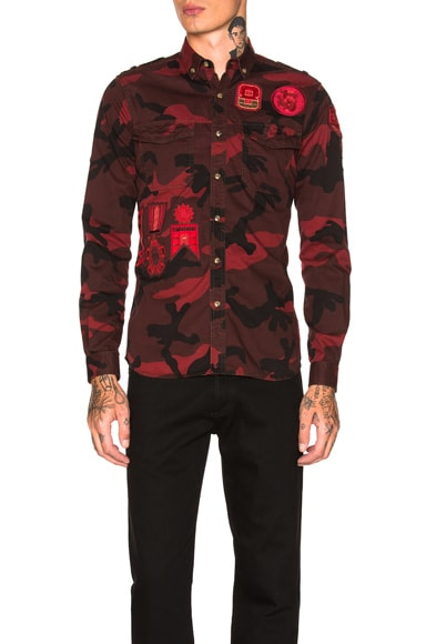 Camouflage Shirt with Patches