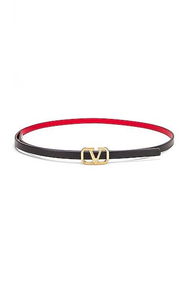Vlogo Skinny Leather Belt