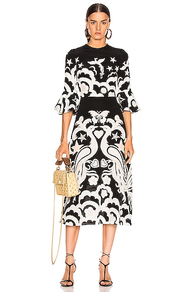 Graphic Midi Dress