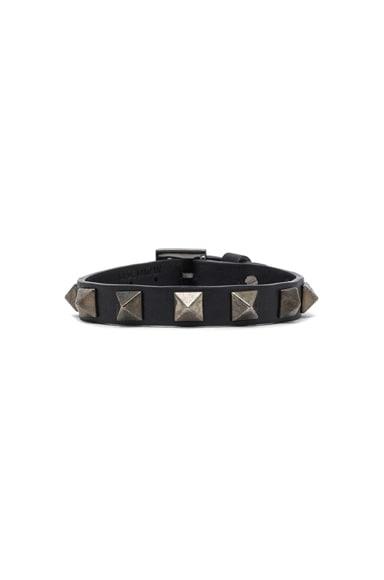 Small Rockstud Calfskin Bracelet