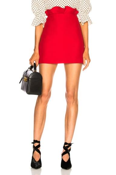 Ruffle Waist Mini Skirt