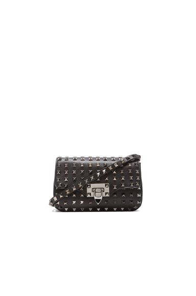 Noir All Over Rockstud Crossbody Bag