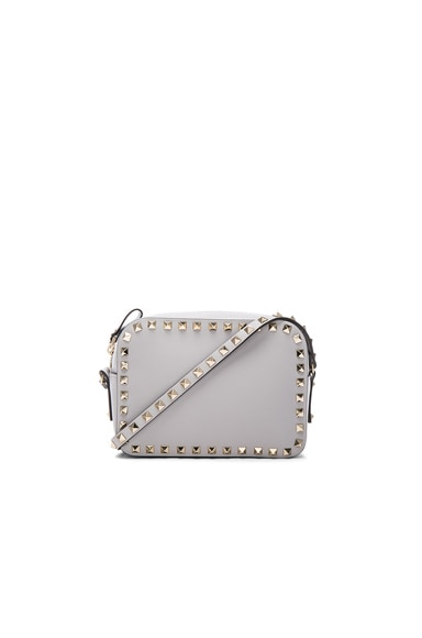 Rockstud Crossbody Bag in Pastel Grey