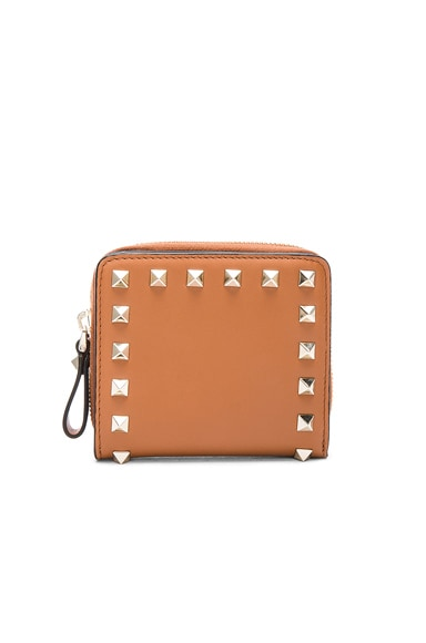 Rockstud Zip Around Wallet