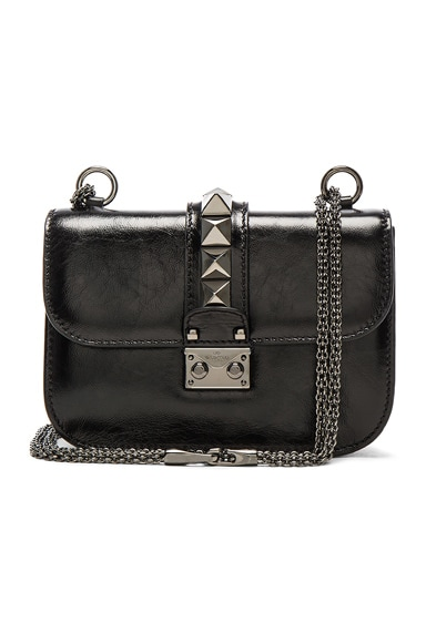 Noir Small Lock Shoulder Bag