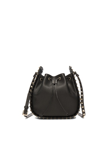 Rockstud Bucket Bag in Black