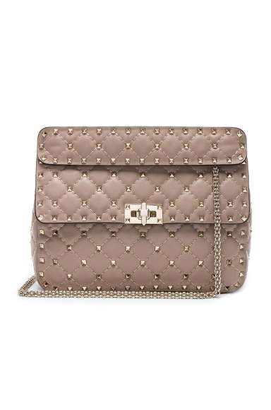 Quilted Rockstud Spike Medium Shoulder Bag