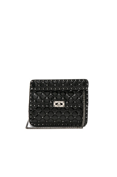Medium Quilted Rockstud Spike Shoulder Bag