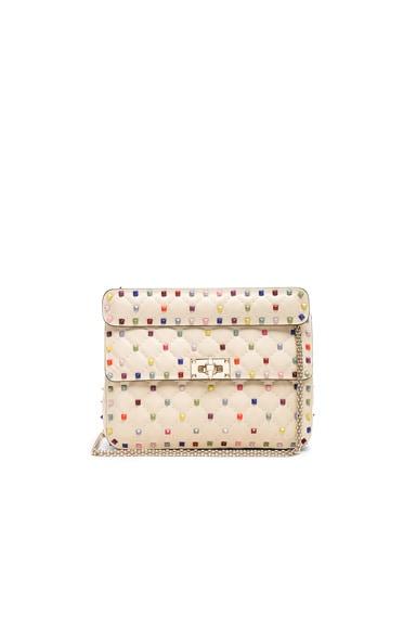 Medium Multicolor Rockstud Spike Shoulder Bag