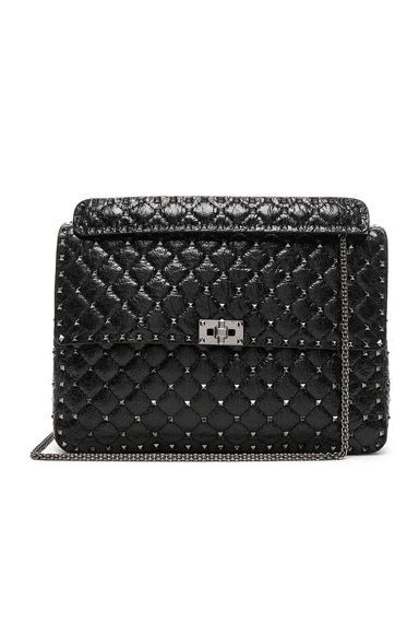 Maxi Rockstud Spike Shoulder Bag