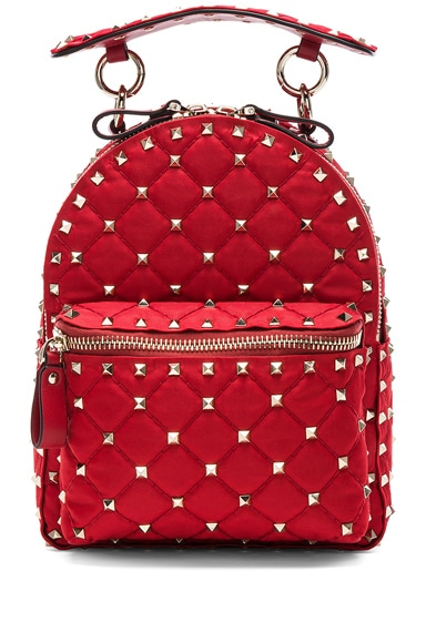 Mini Rockstud Spike Nylon Backpack