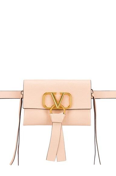 V Logo Ribbon Belt Bag