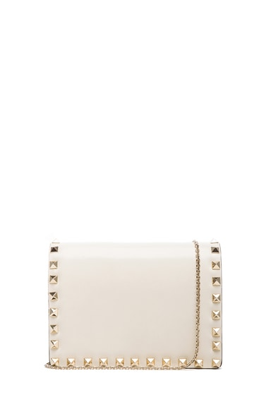 Small Rockstud Flap with Chain