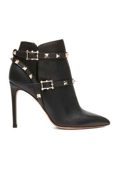 Rockstud Leather Booties T.100