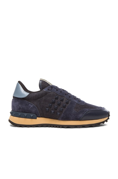 Rock Runner Rockstud Sneakers in Deep Denim, Grey & Marine