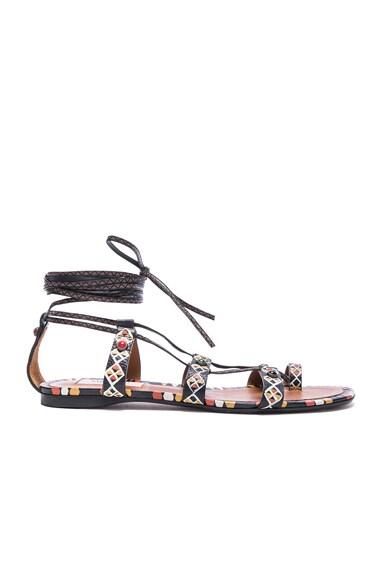 Primitive Print Sandals