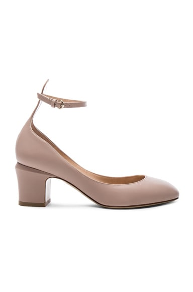 Leather Tan-Go Pumps