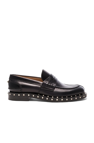 Soul Stud Leather Loafers