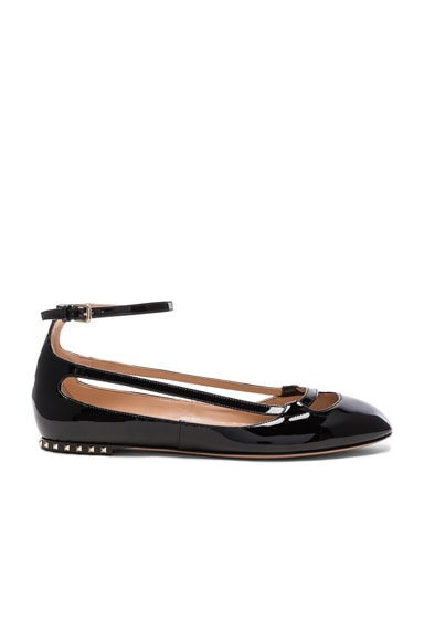 Stardust Babe Patent Leather Ballerina Flats in Al Campione & Black