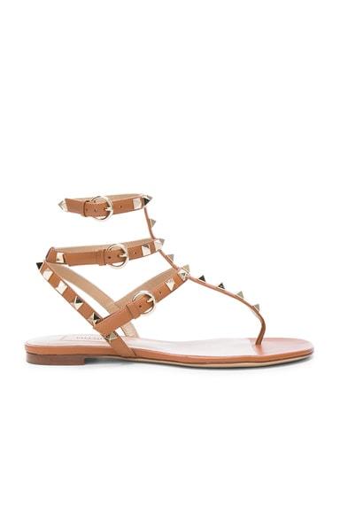 Leather Rockstud Gladiator Sandals