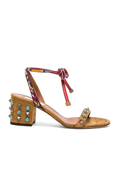 Suede Rockstud Sandals