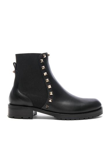 Leather Rockstud Boots