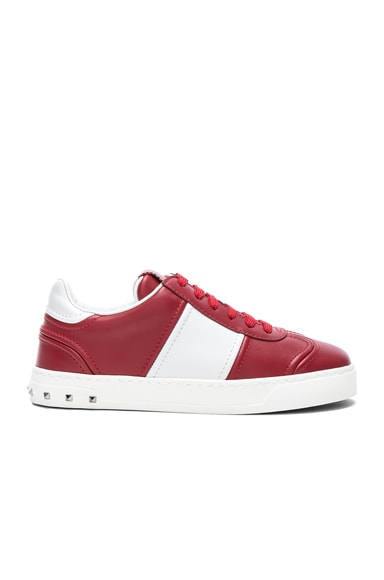Leather Fly Crew Sneakers