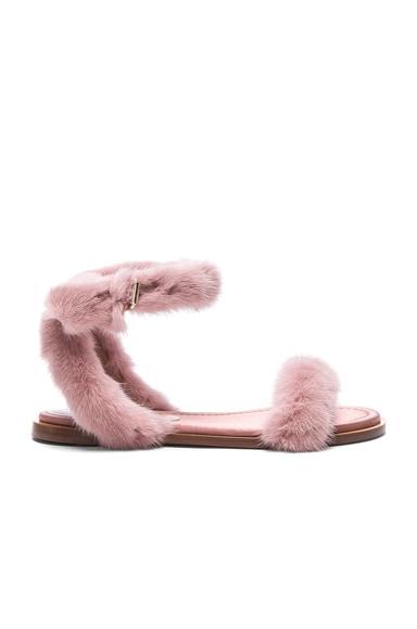 Mink Fur Sandals