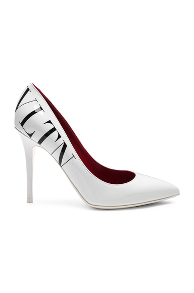 VLTN Print Patent Leather Pumps