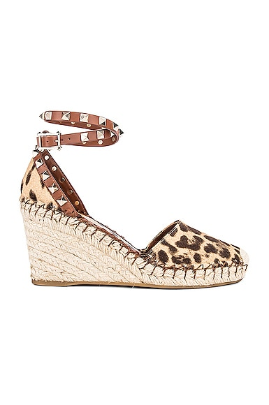 Rockstud Double Espadrille Wedges