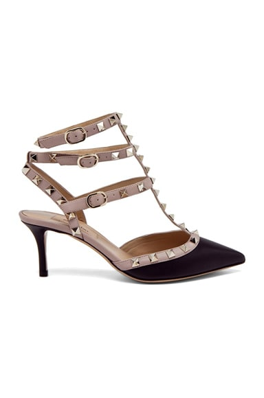 Rockstud Leather Slingbacks T.65