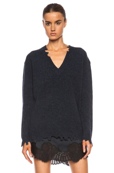 Berline Destroyed Merino Wool Sweater