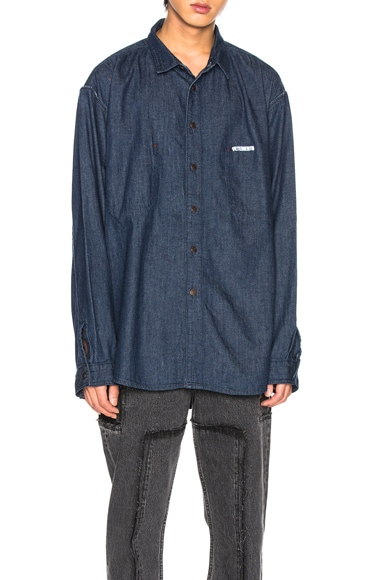 Oversized Inside Out Denim Shirt