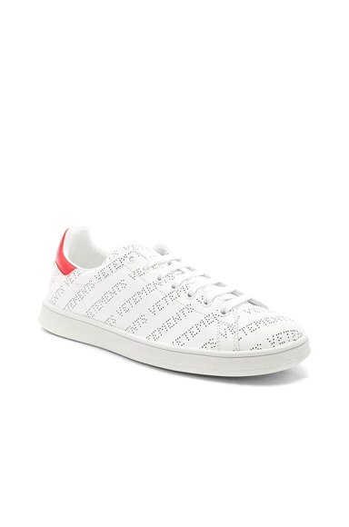 Perforated Leather Sneakers