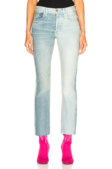 x Levis Two Tone Cropped Jeans