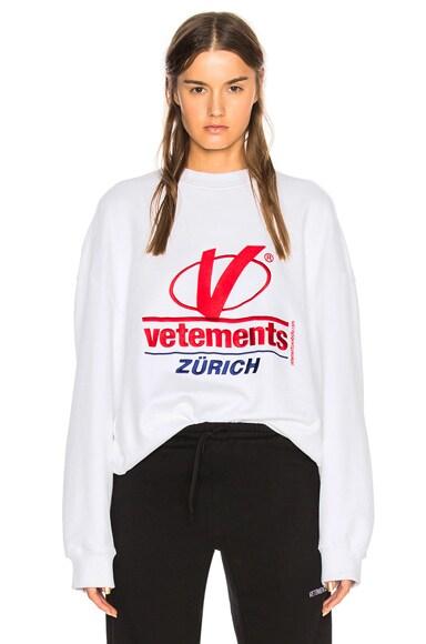 Zurich Embroidery Sweatshirt