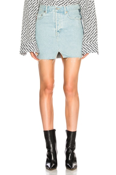 x Levis Denim Mini Skirt