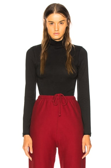 Fitted Inside Out Long Sleeve Turtleneck