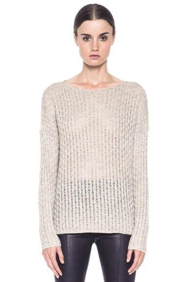 Mini Cable Shirt Tail Merino Wool-Blend Sweater