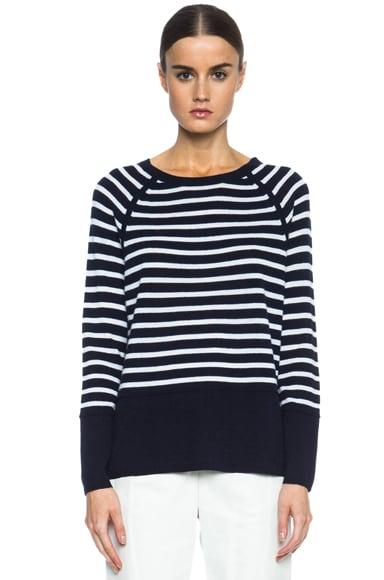 Colorblock Breton Stripe Cashmere Sweater