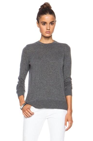 Overlay Crewneck Cashmere Sweater