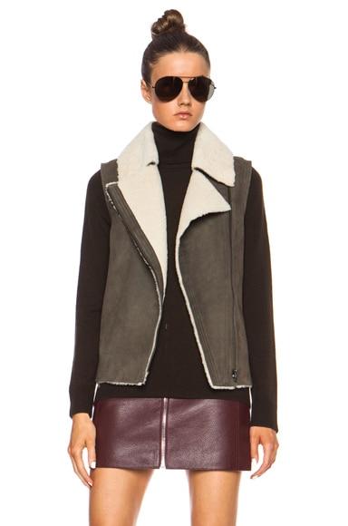 Asymmetric Shearling Jacket