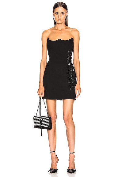 Logo Strapless Dress
