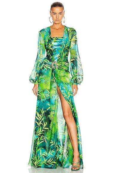 Palm Long Sleeve Dress