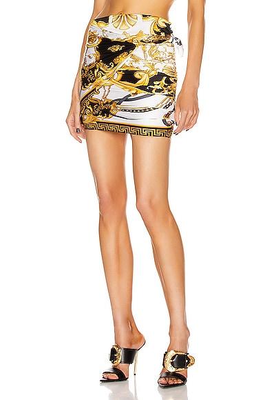 Brocade Mini Skirt
